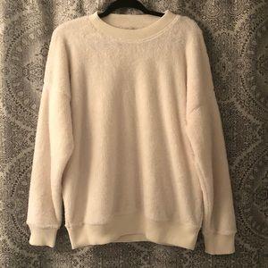 Aerie Soft Fuzzy/Sherpa Cozy Sweatshirt